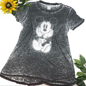 Disney Burnout Short Sleeve T Shirt Mickey Mouse
